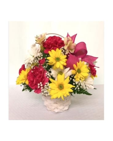 Brilliant Blooms Basket