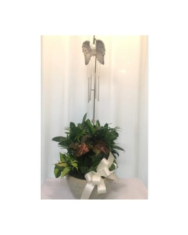 Wings of Love Garden Chimes Flower Arrangement