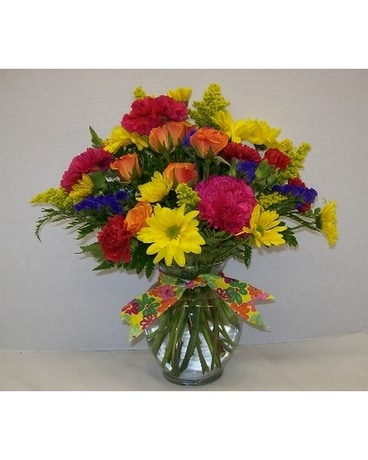 Sunshine Medley Vase In Titusville Fl Floral Creations By Dawn