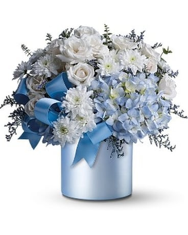 Teleflora's Baby Blue Flower Arrangement