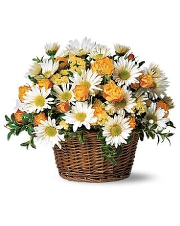 Joyful Roses and Daisies Flower Arrangement