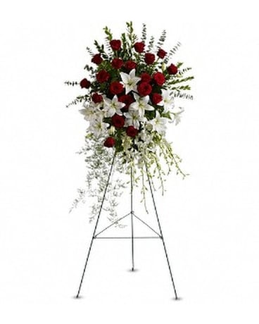 Lily And Rose Tribute Spray In Fort Myers Fl Ft Myers Express Floral Gifts