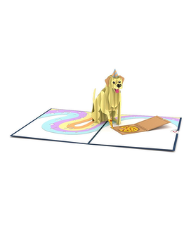 Party Dog 3D card Gifts