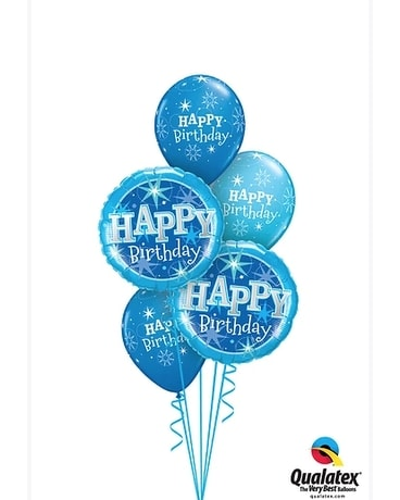 Blue Happy Birthday Custom product