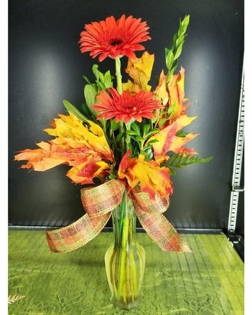 Fall Gerbera Daisy Flower Arrangement