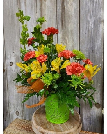 Citrus Fun Flower Arrangement