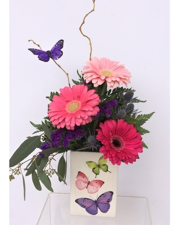 Butterflies and Blooms Flower Arrangement