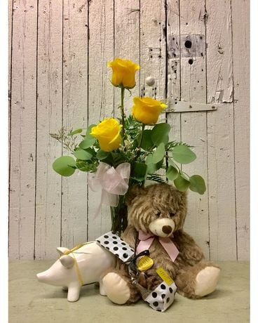 Rock-a-Bye Baby Flower Arrangement