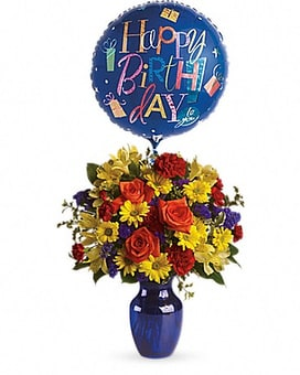 Fly Away Birthday Flower Arrangement