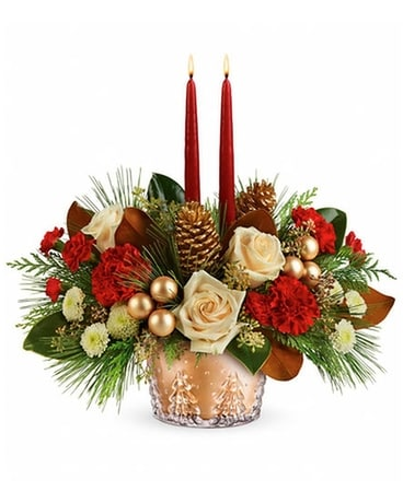 Winter Pines Centerpiece by Teleflora