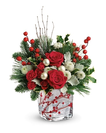Teleflora's Winterberry Kisses