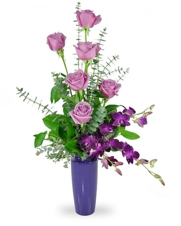 Rose Luxe - Purple Flower Arrangement