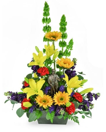 Hunter Tribute Flower Arrangement