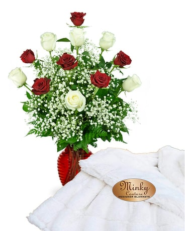 Minky & Roses Package Flower Arrangement