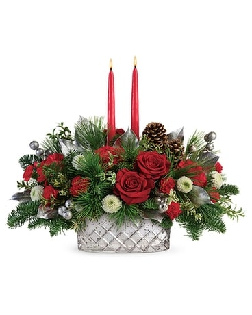 Merry Mercury Centerpiece by Teleflora Flower Arrangement