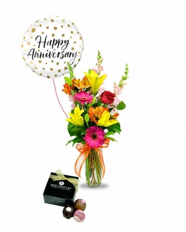 Anniversary Packages Flower Arrangement