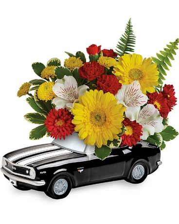 '67 Chevy Camaro Bouquet Flower Arrangement