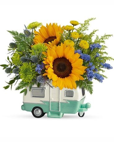 Teleflora's Retro Road Tripper Flower Arrangement