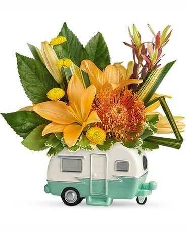 Teleflora's Vintage Vacationer Flower Arrangement