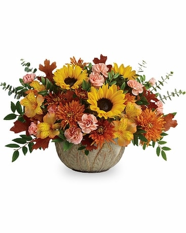 Teleflora's Autumn Sunbeams Flower Arrangement