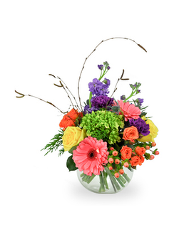 Bowl of Smiles Flower Arrangement