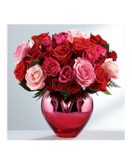 HOLD ME IN YOUR HEART™ RED - PINK ROS ROSE BOUQUET