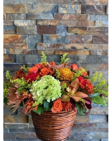 Fall Basket Arrangement Flower Arrangement