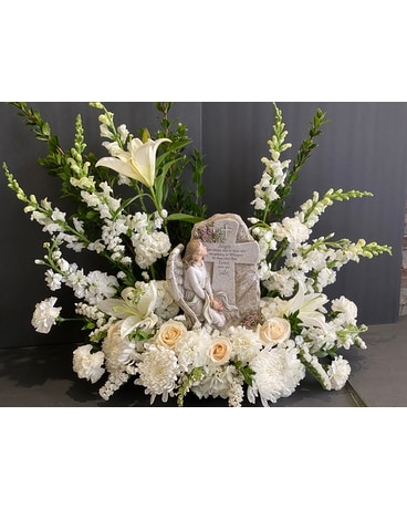 Angel cross  Plaque Funeral Arrangement