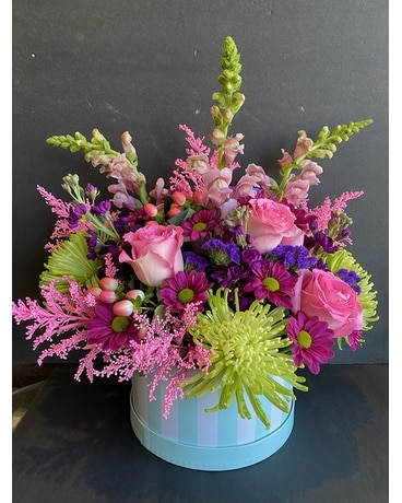 Hat box Flower Arrangement