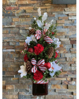 candy cane boxwood tree Flower Arrangement