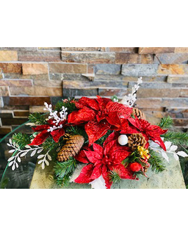 Christmas Silk Flower Arrangement