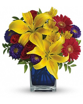Teleflora's Blue Caribbean Flower Arrangement