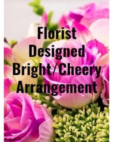 Florist Designed Bright/Cheery Arrangement Flower Arrangement