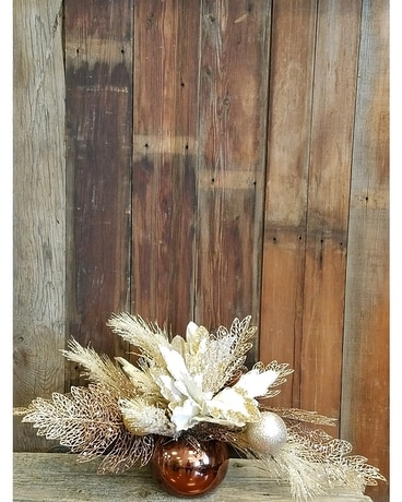 Bold ~n~ Bronze Flower Arrangement