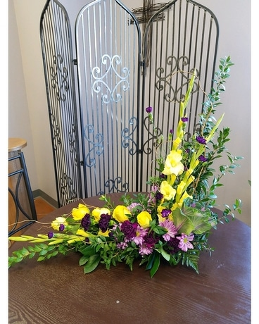 Striking Sympathy Flower Arrangement