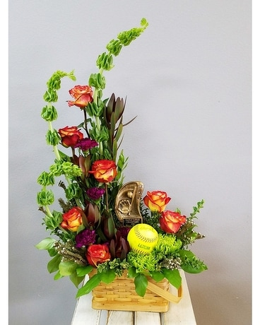 Softball Star Flower Arrangement
