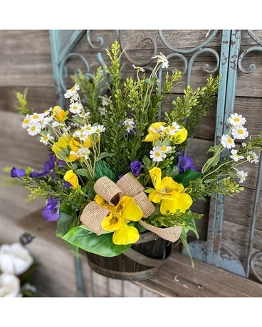 Playful Pansies Flower Arrangement