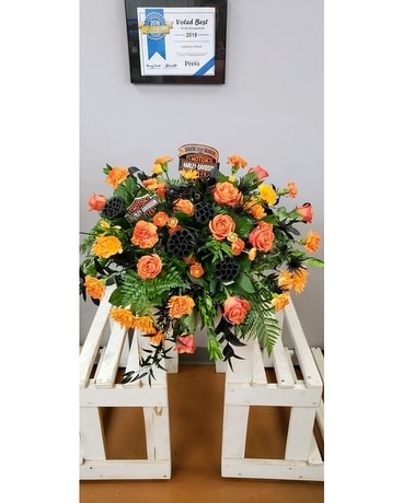 Harley Davidson Tribute Flower Arrangement