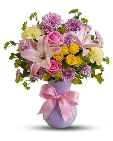 Teleflora's Perfectly Pastel Flower Arrangement