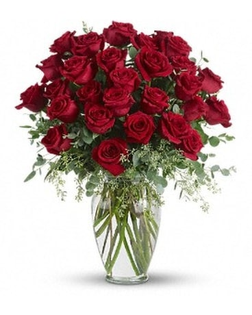 Forever Beloved - 30 Long Stemmed Red Roses Flower Arrangement