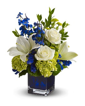Teleflora's Serenade in Blue Flower Arrangement
