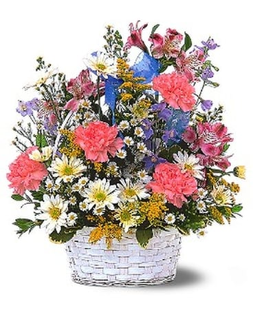 Jubilee Basket Flower Arrangement