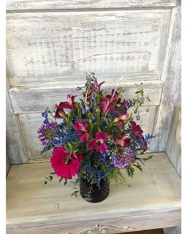 Blue & Purple Wildflower Flower Arrangement