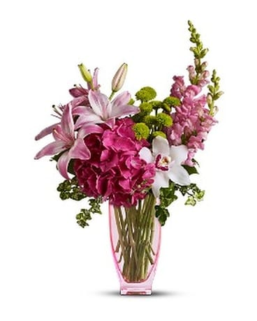 Pink N' Playful Bq Flower Arrangement