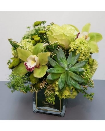 Green Mystic Flower Arrangement