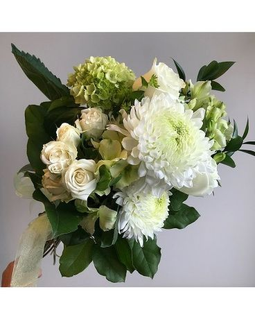 Simply White Cut Bouquet Flower Arrangement