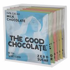 THE GOOD CHOCOLATE - Variety Box of Squares - Keto Friendly, Zero Sugar