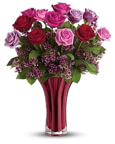 Teleflora's Ruby Nights Bouquet Flower Arrangement