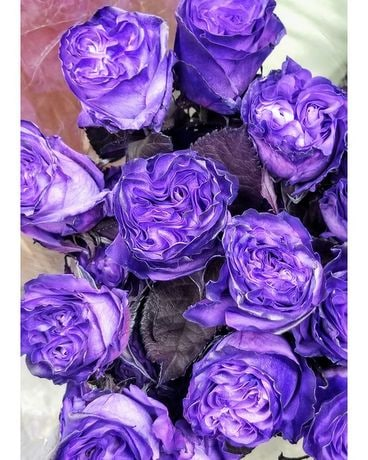Amethyst Roses Flower Arrangement