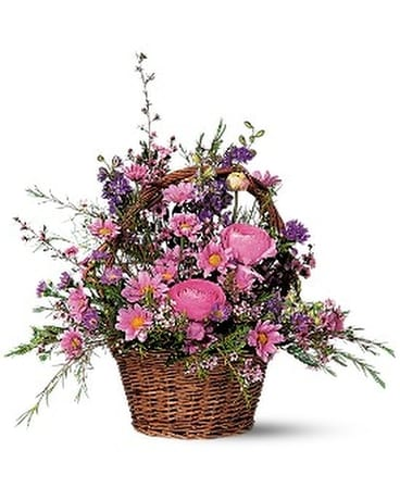 Basket of blossoms in saratoga springs ny dehns flowers basket of blossoms flower arrangement mightylinksfo
